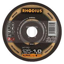Mynd RHODIUS Skurðarskífa 125mm dia 1.0mm þykk ALPHA MADE IN GERMANY