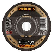 Mynd RHODIUS Skurðarskífa 115mm dia 1.0mm þykk fyrir málma Alpha MADE IN GERMANY