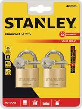 Mynd STANLEY Hengilás Brass 2 stk eins 40mm