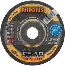 Mynd RHODIUS Skurðarskífa 125x1.0 Málmar Flöt Top Line