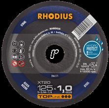 Mynd RHODIUS Skurðarskífa 125x1.0 Málmur Flöt Top Line