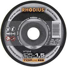 Mynd RHODIUS Skurðarskífa 125x1,5 Málmar Flöt Top Line