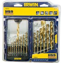 Mynd IRWIN Borasett HSS PRO TIN 15 stk 1.5-10mm