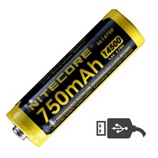 Mynd NITECORE Rafhlaða hleðslu 14500 750mAh USB