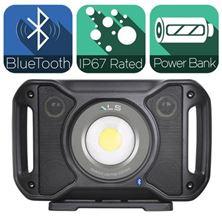 Mynd ALS Vinnuljós AUD502H 5000 Lumen með hátalara Bluetooth Hlaðanlegt
